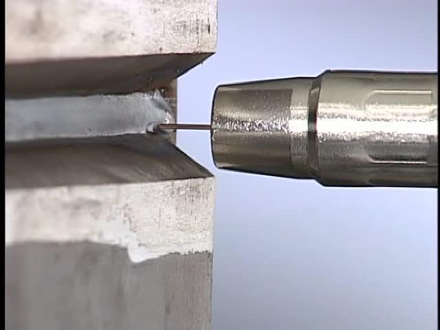 07. Single V-groove weld, butt joint, horizontal (2G) position: pulsed spray transfer