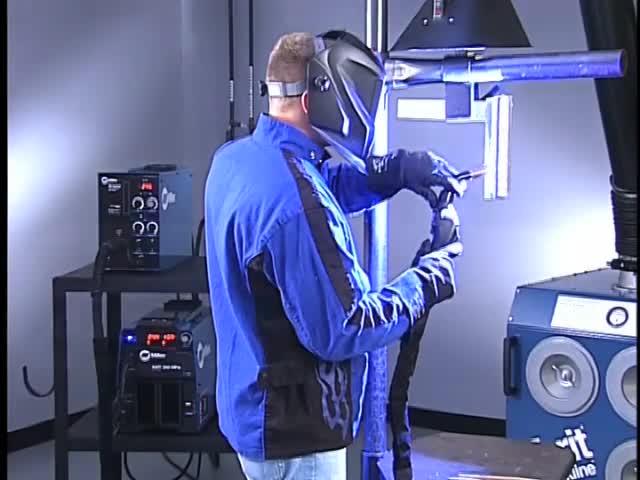 11. Fillet weld, lap & T-joint vertical (3F) position: spray & pulsed spray transfer