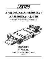 Manual for Lektro Towbarless Aircraft Tow Vehicle