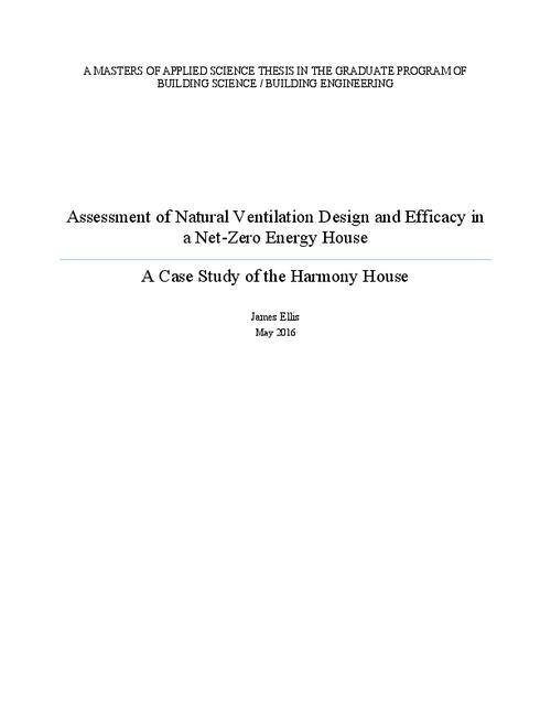 Assessment of natural ventilation design and efficacy in a net